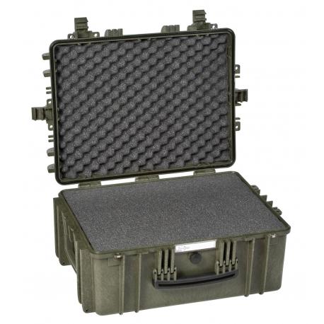 5325 G EXPLORER CASES VERDE MILITARE | CON SPUGNA Valigia a tenuta stagna in polipropilene copolimero
