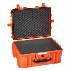 5325 O EXPLORER CASES ARANCIONE CON SPUGNA Valigia a tenuta stagna in polipropilene copolimero