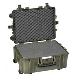 5326 G EXPLORER CASES VERDE MILITARE CON SPUGNA Valigia a tenuta stagna in polipropilene copolimero