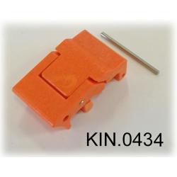 KIN.0434 EXPLORER CASES ARANCIONE Serratura a doppia leva per modelli da 3818 in su