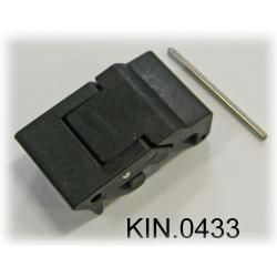 KIN.0433 EXPLORER CASES NERO Serratura laterale a doppia leva per modelli 7630, 7641 e 10840
