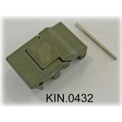 KIN.0432 EXPLORER CASES VERDE MILITARE Serratura laterale a doppia leva per modelli 7630, 7641 e 10840