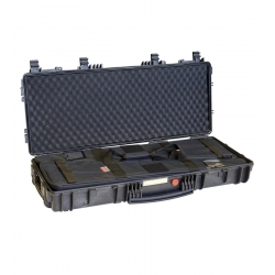 RED 9413 BHB EXPLORER CASES VALIGIA IN POLIPROPILENE NERA CON SPUGNA A CONI NEL COPERCHIO E 2 HBAG 94