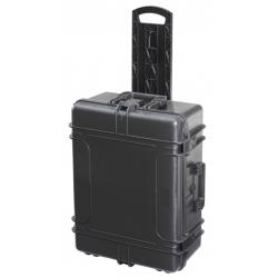 MAX620H250TR.079 Plastica Panaro MAX CASES VALIGIA ERMETICA NERA VUOTA CON TROLLEY