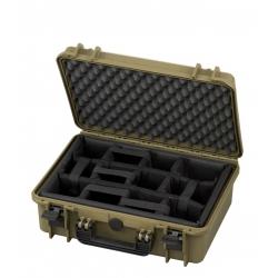 MAX430CAM.079 Plastica Panaro MAX CASES VALIGIA ERMETICA NERA INTERNO CON DIVISORIE IMBOTTITE