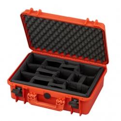 MAX430CAM.001 Plastica Panaro MAX CASES VALIGIA ERMETICA ARANCIONE INTERNO CON DIVISORIE IMBOTTITE