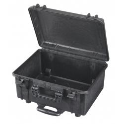 MAX465H220TR.079 Plastica Panaro MAX CASES VALIGIA ERMETICA NERA VUOTA CON TROLLEY