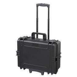 MAX505TR.079 Plastica Panaro MAX CASES VALIGIA ERMETICA NERA VUOTA CON TROLLEY
