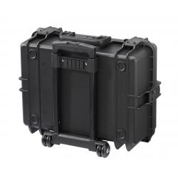 MAX505STR.079 Plastica Panaro MAX CASES VALIGIA ERMETICA NERA SPUGNE CUBETTATE E TROLLEY