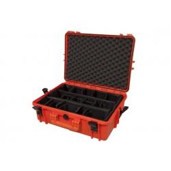 MAX505CAM.001 Plastica Panaro MAX CASES VALIGIA ERMETICA ARANCIONE INTERNO CON DIVISORIE IMBOTTITE