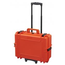 MAX505TR.001 Plastica Panaro MAX CASES VALIGIA ERMETICA ARANCIONE VUOTA CON TROLLEY