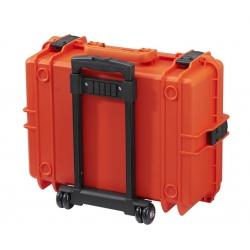 MAX505STR.001 Plastica Panaro MAX CASES VALIGIA ERMETICA ARANCIONE SPUGNE CUBETTATE E TROLLEY