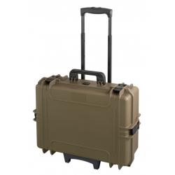MAX505TR.488 Plastica Panaro MAX CASES VALIGIA ERMETICA SAHARA VUOTA CON TROLLEY
