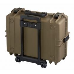 MAX505STR.488 Plastica Panaro MAX CASES VALIGIA ERMETICA SAHARA SPUGNE CUBETTATE E TROLLEY