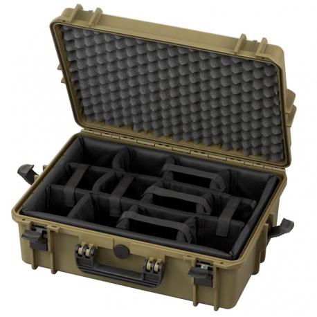 MAX505CAMTR.488 Plastica Panaro MAX CASES VALIGIA ERMETICA SAHARA INTERNO CON DIVISORIE IMBOTTITE E TROLLEY