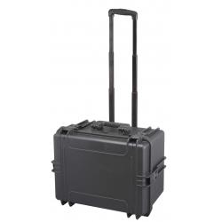 MAX505H280TR.079 Plastica Panaro MAX CASES VALIGIA ERMETICA NERA VUOTA CON TROLLEY