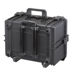 MAX505H280STR.079 Plastica Panaro MAX CASES VALIGIA ERMETICA NERA SPUGNE CUBETTATE E TROLLEY