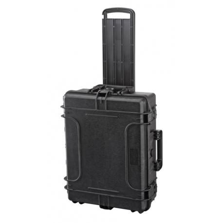 MAX540H190TR.079 Plastica Panaro MAX CASES VALIGIA ERMETICA NERA VUOTA CON TROLLEY