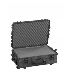 MAX540H190STR.079 Plastica Panaro MAX CASES VALIGIA ERMETICA NERA SPUGNE CUBETTATE E TROLLEY