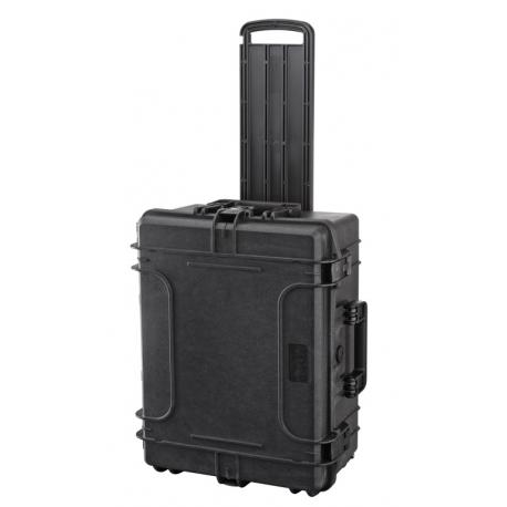 MAX540H245TR.079 Plastica Panaro MAX CASES VALIGIA ERMETICA NERA VUOTA CON TROLLEY