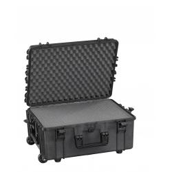 MAX540H245STR.079 Plastica Panaro MAX CASES VALIGIA ERMETICA NERA SPUGNE CUBETTATE E TROLLEY