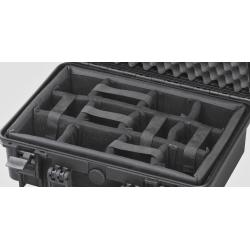 INT505CAM MAX CASES Plastica Panaro Interno con divisorie imbottite per Max505 (spugna bugnata non inclusa) nero