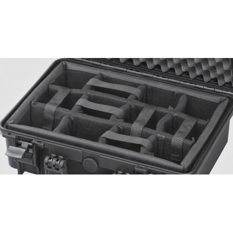 INT430CAM MAX CASES Plastica Panaro Interno con divisorie imbottite per Max430 (spugna bugnata non inclusa) nero