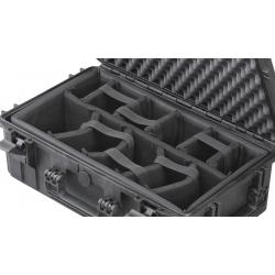 INT540H245CAM MAX CASES Plastica Panaro Interno con divisorie imbottite per Max540 (spugna bugnata non inclusa) nero
