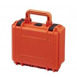 MAX235H105SPARK.001 Plastica Panaro MAX CASES VALIGIA STAGNA CON INSERTO PERSONALIZZATO PER DJI SPARK (ARANCIONE)