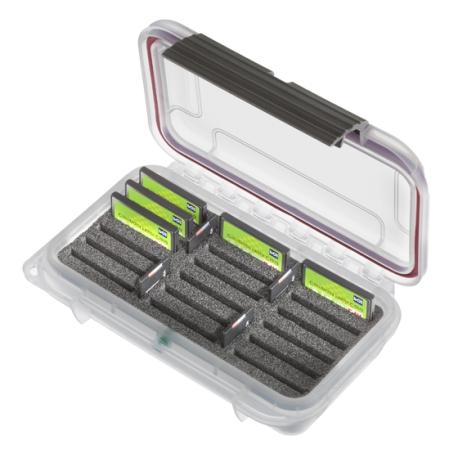 MAX001VTCF+SD Plastica Panaro MAX CASES CUSTODIA STAGNA CON INSERTO PERSONALIZZATO PER CF + SD CARDS TRASPARENTE