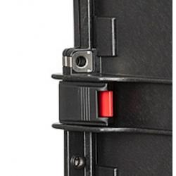 KIN.1113 EXPLORER CASES Serratura nera con pulsante di sicurezza rosso per 15416