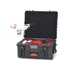 PHA2700W-03 HPRC VALIGIA HPRC2700W FOR DJI PHANTOM 2/2 VISION/2 VISION+ - BLACK/RED FOAM