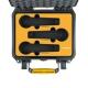 MCF3-2200-01 HPRC2200 VALIGIA ERMETICA HPRC NERA PER 3 MICROFONI UNIVERSALI