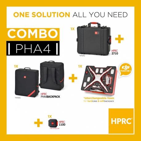 PHA4-2710COM-01 HPRC COMBO - HPRC2710 + SOFT BAG FOR DJI PHANTOM4 /4PRO/4PRO+ (INTERCHANGEABLE FOAM)