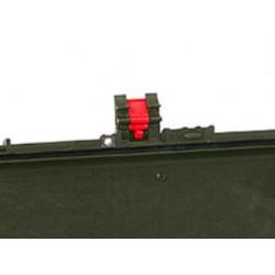 KIN.1114 EXPLORER CASES Serratura verde militare con pulsante di sicurezza rosso per 15416