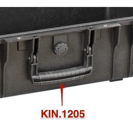 KIN.1205 EXPLORER CASES Maniglia nera rivestita in gomma (mod.5218-5221)