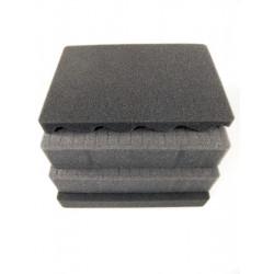 HDCUBMAX400 MAX CASES Plastica Panaro Spugna cubettata altà densità 60 mm per art. MAX400 nero