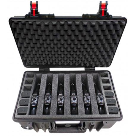 5221 B 6P EXPLORER CASES NERA Adatta per 6 Pistole e 12 Caricatori
