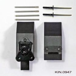 KIN.0947 EXPLORER CASES Serratura di metallo a farfalla e giunzioni per modelli 10826 e 10840