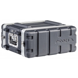 FOABSR4UM PROEL Custodia a rack 19' - 4 unità - realizzata in 'Polietilene FORCE'. Profondità interna utile: 307 mm