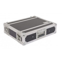 CR152BLKM PROEL Flight case professionale 2U a rack 19', profondità utile corpo 25cm.
