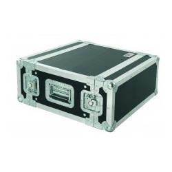CR154BLKM PROEL Flight case professionale 4U a rack 19', profondità utile corpo 25cm.
