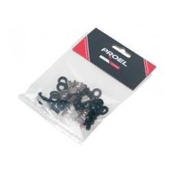 KIT12B PROEL Kit di montaggio rack, composto da n. 12 AC104, n. 12 AC106B e n. 12 AC106C.