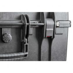 KIN.1209 EXPLORER CASES Serratura nera con pulsante di sicurezza rosso per 5218 - 5221