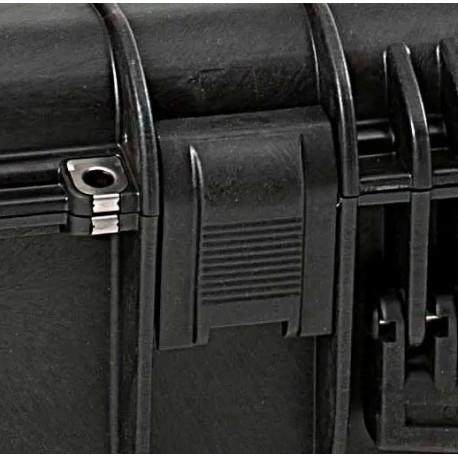 KIN.1115 EXPLORER CASES Serratura sabbia con pulsante di sicurezza rosso per 15416