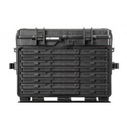 5140.B.8A EXPLORER CASES NERA CON CASSETTI VUOTI 8 x AIDRAW3.E, con RFID/NFC