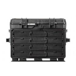 5140.B.4L EXPLORER CASES NERA CON CASSETTI VUOTI 4 x AIDRAW6.E, con RFID/NFC