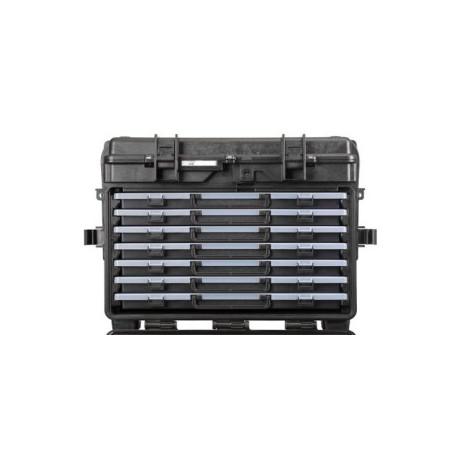 5140X.B.7A EXPLORER CASES NERA CON CASSETTI VUOTI 7 x AIBOX3.E, CON RFID/NFC