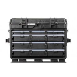 5140X.B.A3L EXPLORER CASES NERA CON CASSETTI VUOTI 1 x AIBOX3.E + 3 x AIBOX6.E, CON RFID/NFC