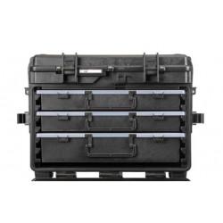 5140X.B.2LR EXPLORER CASES NERA CON CASSETTI VUOTI 2 x AIBOX6.E + 1 x AIBOX9.E, CON RFID/NFC